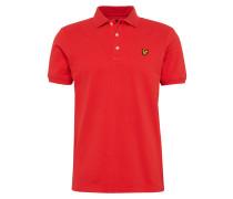 Poloshirt mit Marken-Badge rot
