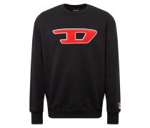 Sweatshirt rot / schwarz / weiß