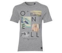 T-Shirt 'Neos' graumeliert / schwarz