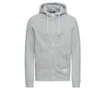 Sweatjacke 'Morgan Zip AM' graumeliert