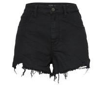 High Waist Jeansshort schwarz