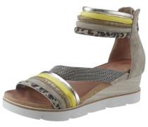 Sandalette khaki / gelb