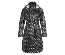 Feminine Regenjacke schwarz / weiß