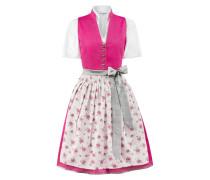 Dirndl 'Rika' grau / pink / weiß