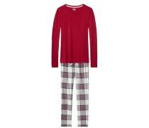 Schlafanzug blau / rot / weiß