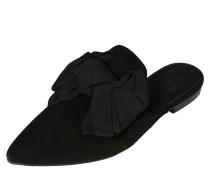 Pantolette aus Leder schwarz