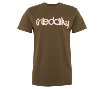T-Shirt 'No Matter 4' oliv / rosa