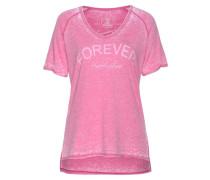 T-Shirt 'Nikolina' pink / weiß