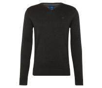 Pullover 'basic v-neck sweater' schwarz
