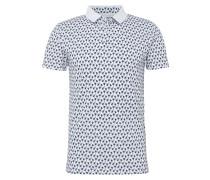 Poloshirts dunkelblau / weiß