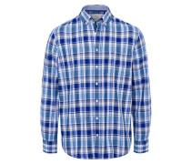 Hemd 'Dries' blau / himmelblau / grau / weiß