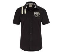 Hemd 'shinrock' schwarz / weiß