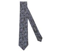 Krawatte 'Schwarze Rose' blau / grau