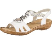 Sandale grau / weiß