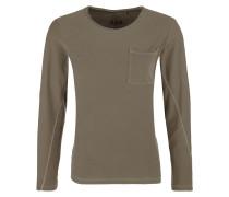 Slim: Pigment Dye-Shirt khaki