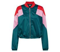 Jacke smaragd / rosa / rot