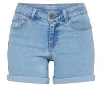 Shorts umgeschlagener Saum hellblau