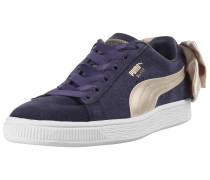 Sneaker 'Suede Bow Varsity' creme / pflaume
