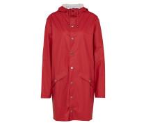 Long-Mantel mit Kapuze rot