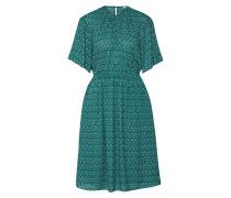 Kleid grün / weiß