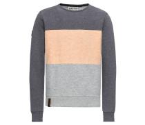 Sweatshirt grau / apricot