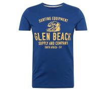T-Shirt blau / goldgelb