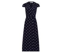 Dress 'Polka Dot Wrap' nachtblau / weiß