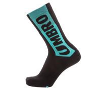 Socken türkis / neonpink / schwarz
