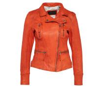 Biker-Lederjacke orange