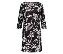 Kleid mit trendy Blumenprint schwarz