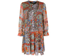 Kleid im Ethno-Look mischfarben