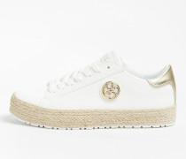 Sneaker 'Mira' hellbeige / gold / weiß