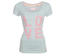 T-Shirt mint / neonpink