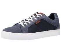 Sneaker navy / taubenblau / cognac