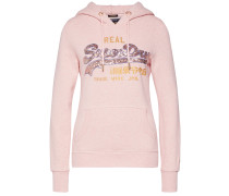 Sweatshirt 'V Logo Sequin Line Entry Hood'