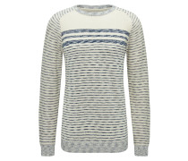 Pullover navy / weiß