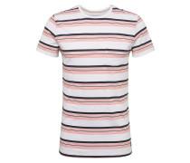 T-Shirt mischfarben / koralle / weiß