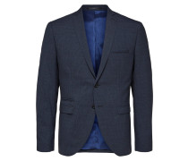 Slim Fit Blazer blau