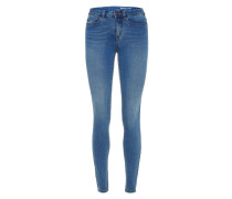 Coffee Regular Waist Slim Fit Jeans blau