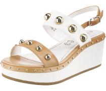 Sandaletten hellbraun / weiß