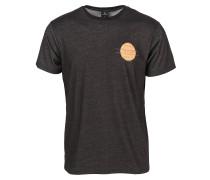 T-Shirt pastellorange / schwarz