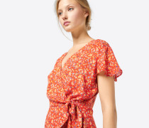 Kleid 'Janne' blau / gelb / rot
