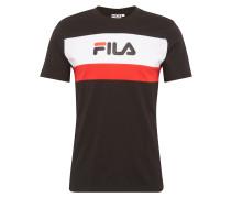 T-Shirt 'aaron tee SS' rot / schwarz