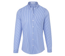Bluse royalblau / weiß