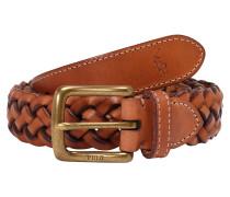 Gürtel 'leather-Wstend Braid-Drc-Med'