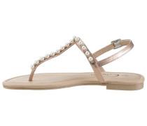 Sandale gold / perlweiß