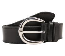 Weicher Ledergürtel schwarz
