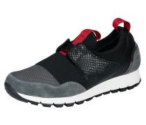 Sneaker grau / rot / schwarz