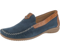 Slipper blau / cognac
