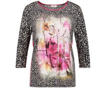 T-Shirt fuchsia / schwarz / weiß